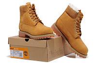 Ботинки зимние Classic Timberland 6 inch Yellow Winter Fur