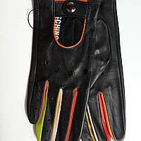 Женские кожаные перчатки Moschino без подкладки