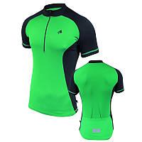 Велофутболка мужская с карманами Radical Racer SX, салатовая