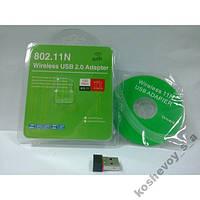 Сетевая карта, USB адаптер wi-fi 802.11 b / g / n,