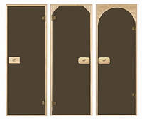 Двери для сауны Бронза матовая 80х200