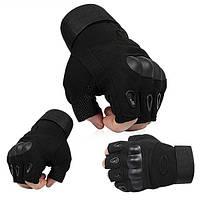 Тактические перчатки Беспалые Oakley чёрные