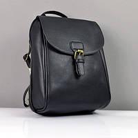 Прямоугольный женский рюкзак черный городской, фото 1