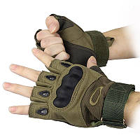 Тактические перчатки Беспалые Oakley Олива