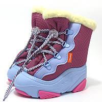 Детские зимние сапоги-дутики Demar (Демар) SNOW MAR a розовые р.20--29 теплющие, есть опт