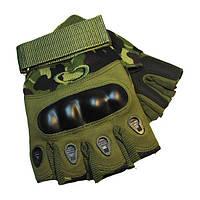 Тактические перчатки Беспалые Oakley камуфляж