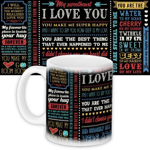 Кружка с принтом Words about love I love you (KR_WOL001)