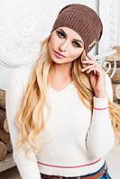 "Красивая шапка ""Лоран"" (коричневый)"