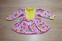 Тепленькое платье на девочку 80/86 см