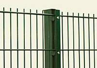 Столб в бетон 58х38х1.5мм оц+ПВХ 0.95м