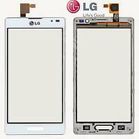 Touchscreen (сенсорный экран) для LG Optimus L9 P760 / P765 / P768, с рамкой, оригинал, белый
