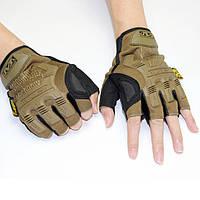 Тактические перчатки Беспалые MECHANIX Олива
