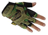 Тактические перчатки Беспалые MECHANIX камуфляж