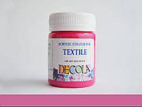 Акриловая краска для тканей Розовая Светлая, Decola
