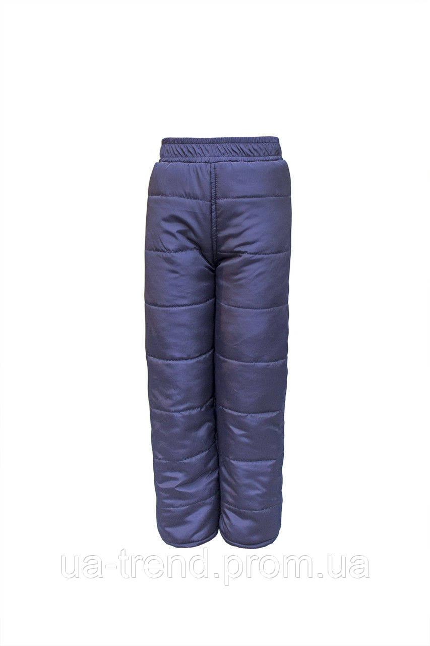 Детские зимние штанишки 116-122-12 см темно синего цвета