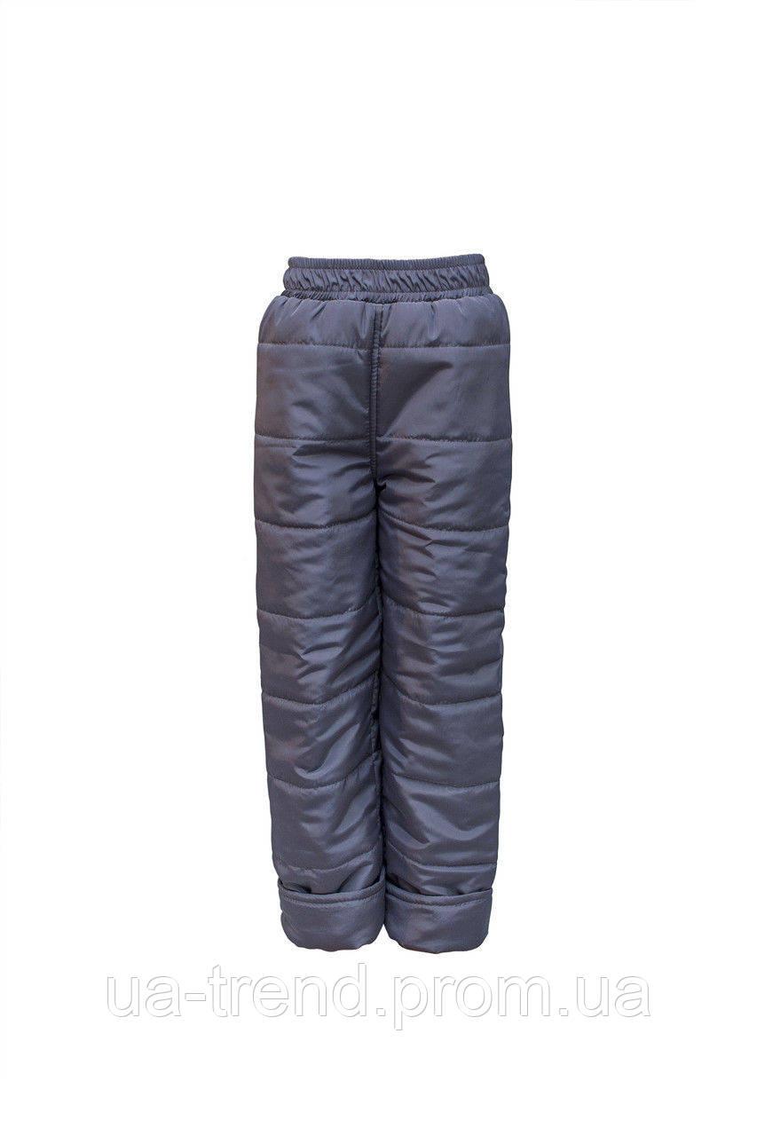 Детские зимние штанишки 116-122-128 см темно серого цвета