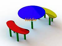 Стол с 2 лавками Kiddie1