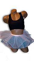 Детская юбка пачка, балерина. Голубая.