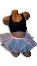 Дитяча спідниця-пачка, балерина. Блакитна.