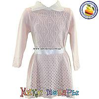 Вязанная платье с длинным рукавом для девочки от 2 до 6 лет (4718-1)