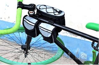 Велосумка нарамная двойная CoolChange (серо-черная)