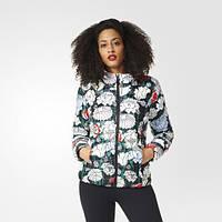 Утепленная куртка женская с капюшоном адидас Slim B36946