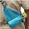 Сумка для спорту з кишенею під телефон і флягу (блакитна), фото 4