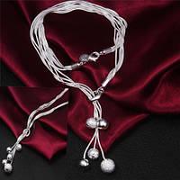 Нарядное  серебряное ожерелье