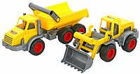 Автомобиль-самосвал+ трактор-погрузчик  WADER