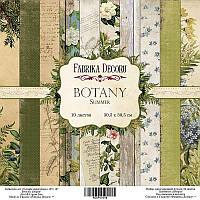 "Набор бумаги от Фабрика Декора - ""Botany Summer"", 30x30 см, 10 листов"