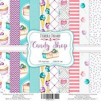 "Набор бумаги от Фабрика Декора - ""Candy Shop"", 20x20 см, 10 листов"