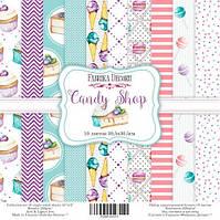 "Набор бумаги от Фабрика Декора - ""Candy Shop"", 30x30 см, 10 листов"