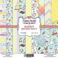 """Набор бумаги от Фабрики Декора - """"Bunny birsday party"""", 20x20 см, 10 листов"""