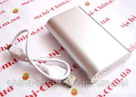 Універсальна мобільна батарея в стилі Xiaomi power bank 12000 mAh, silver, фото 3