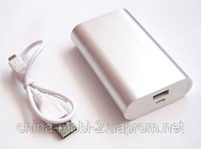 Универсальная мобильная батарея (в стиле mi Xiaomi mobile power bank) 12000 mAh, silver, фото 2