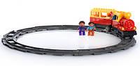 Конструктор детская железная дорога Веселый Паровозик