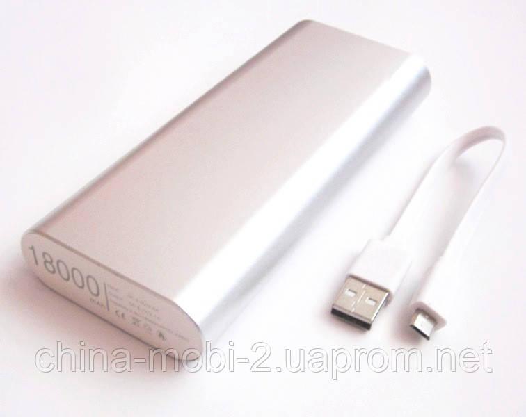 Універсальна мобільна батарея в стилі Xiaomi power bank 18000 mAh, silver