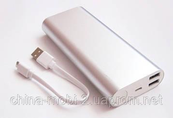 Универсальная мобильная батарея (в стиле mi Xiaomi mobile power bank) 18000 mAh, silver, фото 2