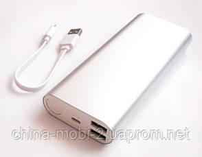 Універсальна мобільна батарея в стилі Xiaomi power bank 18000 mAh, silver, фото 2