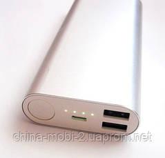 Универсальная мобильная батарея (в стиле mi Xiaomi mobile power bank) 18000 mAh, silver, фото 3