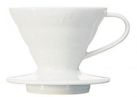 Пуровер Hario Dripper V60 01 Ceramic Dripper (артикул VDC-01W)