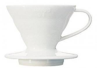 Пуровер Hario Dripper V60 01 Ceramic Dripper (артикул VDC-01W)