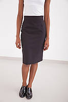 Женская деловая черная юбка-карандаш с высокой талией
