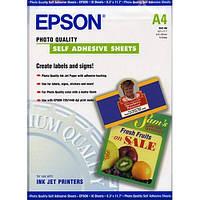 Самоклеящаяся бумага Epson матовая Quality Self Adhesive Sheet 167г/м кв, A4, 10л (C13S041106)