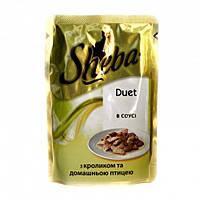 Sheba Шеба пауч Duet с кроликом и домашней птицей в соусе 85 г