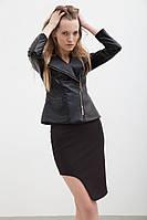 Женская черная юбка с асимметричным низом