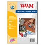 Фотобумага WWM глянцевая самоклеящаяся для СD/DVD 130г/м кв , A4 , 20л (CDG130.20), фото 2