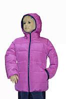 Зимняя курточка с капюшоном для девочки , фото 1