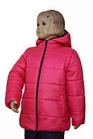 Зимняя курточка для девочки малинового цвета, фото 1