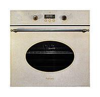 Духовка электрическая встраиваемая Fabiano FBO-R 43 Lux Авена / Песочный с латунной фурнитурой